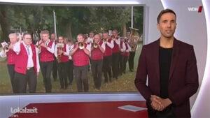 Blaskapelle Lüchtringen mit einer Live-Schaltung in der WDR Lokalzeit