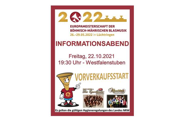 EM der böhmisch-mährischen Blasmusik 2022 in Lüchtringen